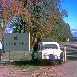 The W A car on the way south ex Qld 1966