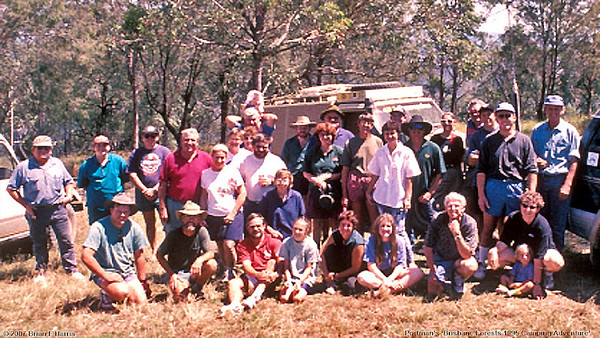 Great group to camp and 4x4 with on Portmans Brisbane Forests camping adventure 1995