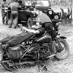 Dave Shepherd (Shep) on his Harley WLA as we have a break.
