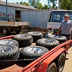 Col has some powerful rubber here to fit his Toyota Landcruiser 4x4