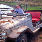 Keith in the Bruce Ison Toyota which has a three speed, no transfer case transmission and a Chev type engine.