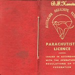 Lofty Harris gets his Certificate 'C' Parachutist Licence in June 1964 at Qld Parachute Club