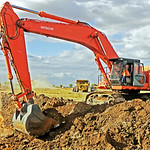 Gateway project #2 proceeds. Foundations for new stores wirh Grahams Plant Hire at work
