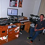 Paul Harris in his music den at Bundy.