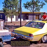 On holidays in Brian's Evans Deakin company car (and fuel)  at Calliope. 1980
